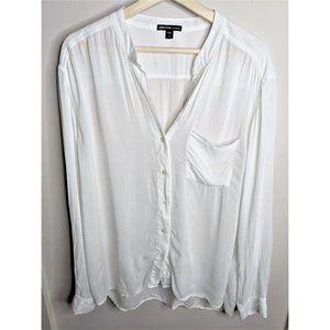 James Perse Tops - James Perse | Collarless Pocket Shirt